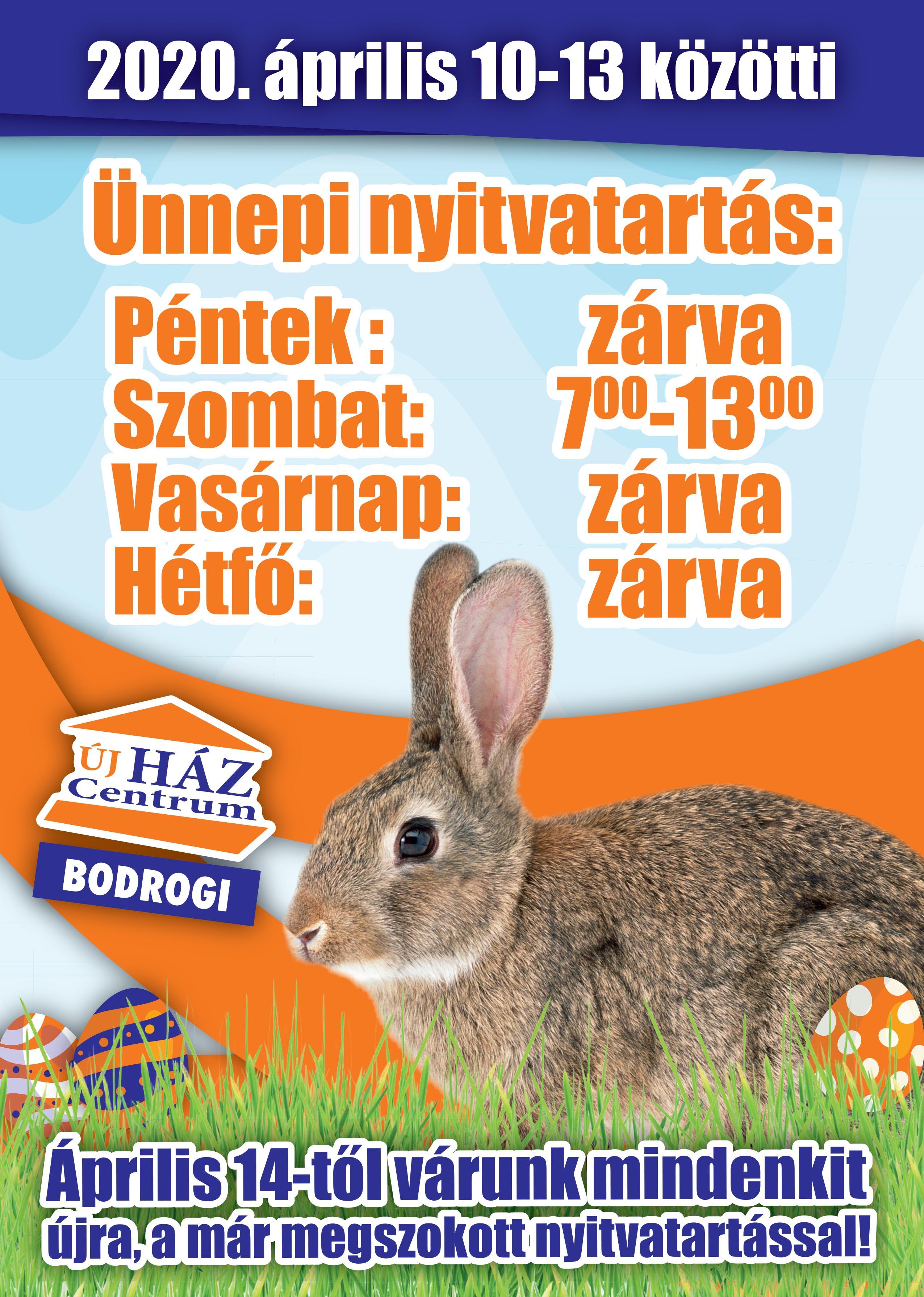 Húsvéti, ünnepi nyitvartás áruházainkban